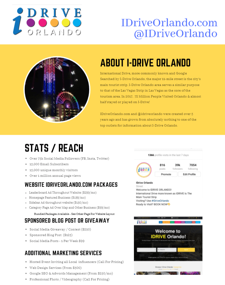 Advertise on I-Drive Orlando