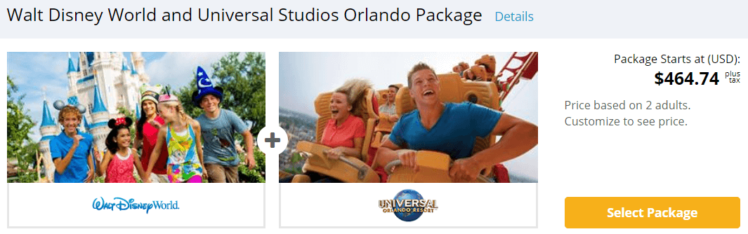 Cheapest Disney and Universal Orlando Package Tickets